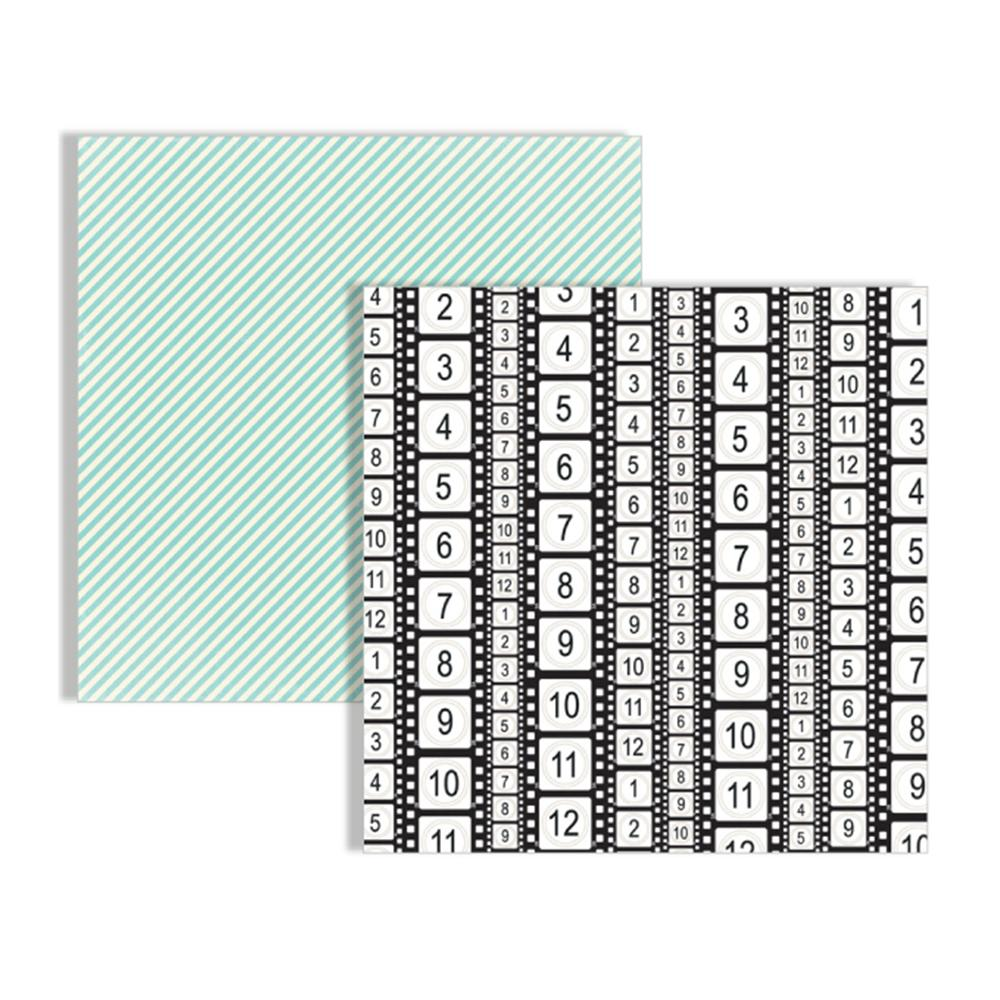 Teresa Collins - Memories Collection - 12 x 12 Double Sided Paper - Filmstrip
