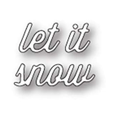Memory Box Die - Let It Snow Perky Script