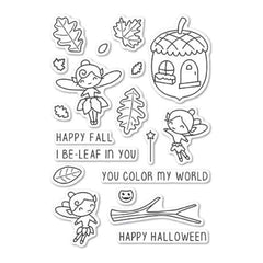 Memory Box Poppystamps - Autumn Fairies clear stamp set