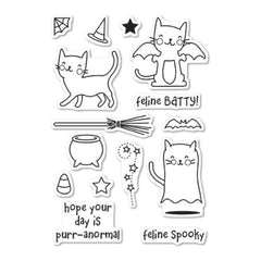 Memory Box Poppystamps - Feline Spooky clear stamp set