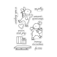 Memory Box Stamp Set - Be Jolly clear stamp set