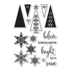 Memorybox - Making Spirits Bright Clear Stamp Set Die