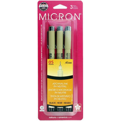 Pigma - Micron Pens - .45mm 3 pack - Black