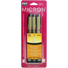 Pigma-Micron Pens - .50mm 3 pack - Black