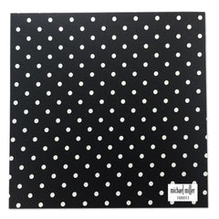 Michael Miller Memories - Ooh La Dot Black-White 12x12 fabric paper (pack of 5)