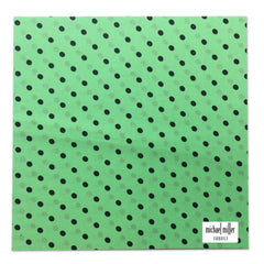 Michael Miller Memories - Ooh La Dot Kiwi 12x12 fabric paper (pack of 5)