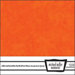 Michael Miller Memories - Krystal Orange 12x12 fabric paper (pack of 5)
