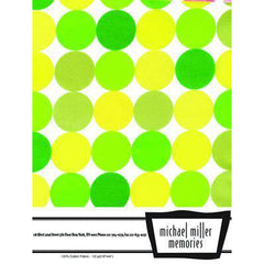 Michael Miller Memories - Half Yard - Disco Dot Citrus