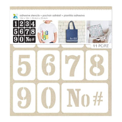 Momenta Adhesive Stencils 10inch X10inch Numbers