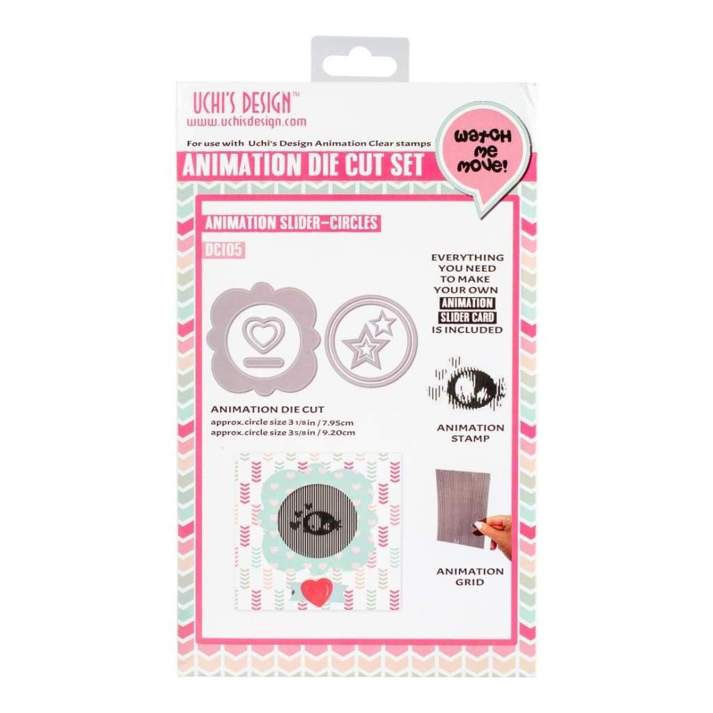 Motion Crafts Animation Clear Stamps, Die & Grid Set Bird-Circle Slider Card 3.124inch Diameter