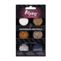 Moxy Glitter Pack, Pot Set - Shimmering Neutrals (6 Piece)