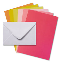 Mpress - Card and Envelope Pack 5x7in, 300GSM - Citrus Burst