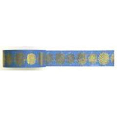 Amazing Value Washi Tape - Teal Background with Gold Foil Design - Size: 15mmx10m
