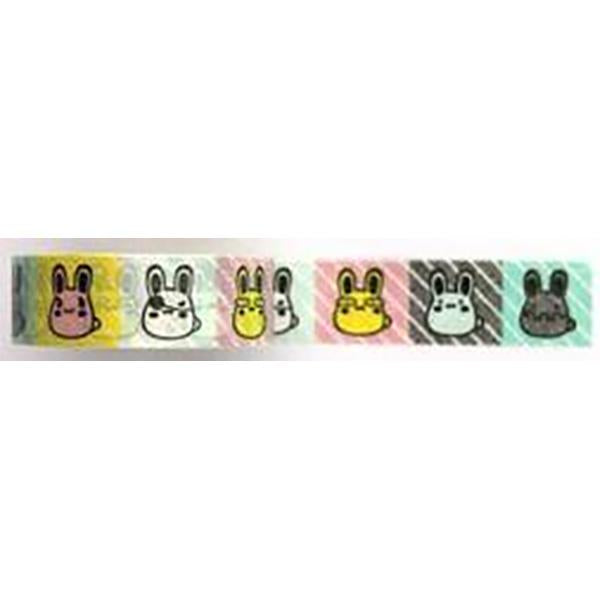 Amazing Value Washi Tape - Cute Bunny Designs in Coloured Boxes - Size: 15mmx10m