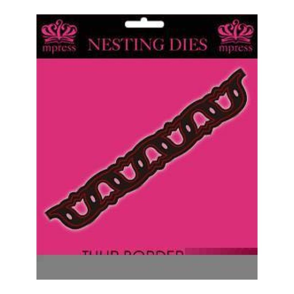Mp - Multi Layered Nesting Dies - Tulip Border Die - 152X23mm