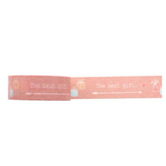 Amazing Value Washi Tape - Pink Background with The Best Gift Text Design