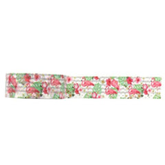 Amazing Value Washi Tape - White Background with Pink Flamingo Design
