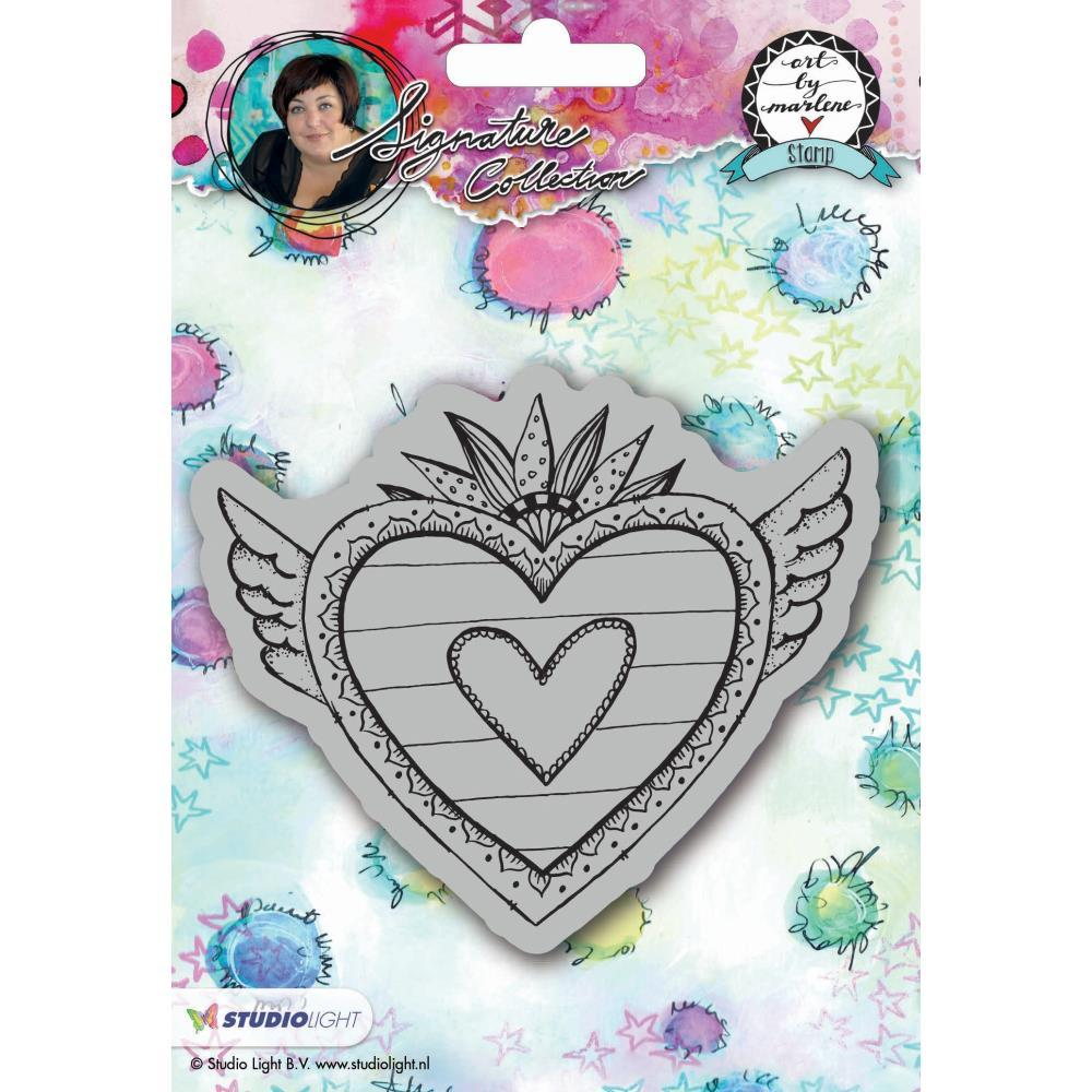 Art By Marlene 2.0 Hearts Cling Stamp - Heart with wings (BM24)
