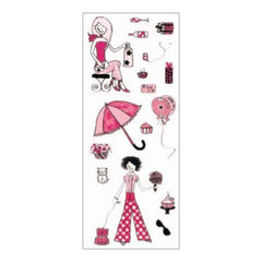 Mpress Stamps - Girls Day Out  10cm x 24cm