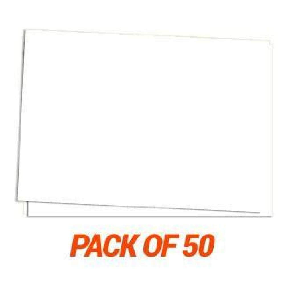 Mpress White 5X7 Inch Cards - 50 Card Pack