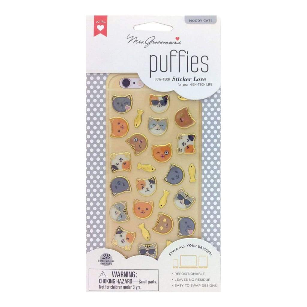 Mrs. Grossmans Puffies Stickers - Moody Cat