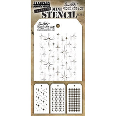 Tim Holtz Mini Layered Stencil Set 3 pack - Set #44