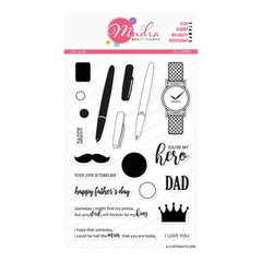 Mudra DAD 6 inch x 4 inch Stamp Set