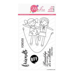 Mudra Friends Forever 6 inch x 4 inch Stamp Set