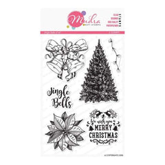 Mudra Jingle Bells 6 inch x 4 inch Stamp Set