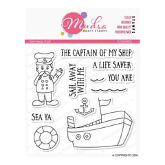 Mudra Sail Away 4 inch x 4 inch Stamp Set