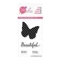 Mudra Stamps - Polka Dot Butterfly