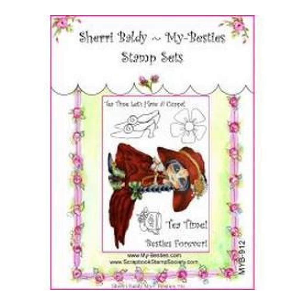 My Besties Clear Stamps Set 4In. X6in.  Tea Time Bestie Forever