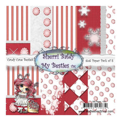 My Besties Single-Sided Paper 6X6 8 pack - Candy Cane N.155