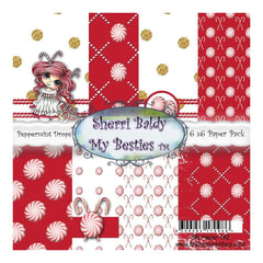 My Besties Single-Sided Paper 6X6 8 pack - Peppermint Drops