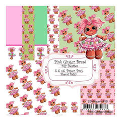My Besties Single-Sided Paper 6X6 8 pack - Pink Ginger Bread