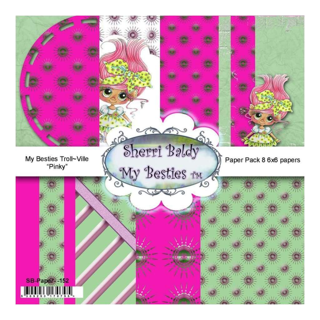 My Besties Single-Sided Paper 6X6 8 pack - Troll Ville Pinky