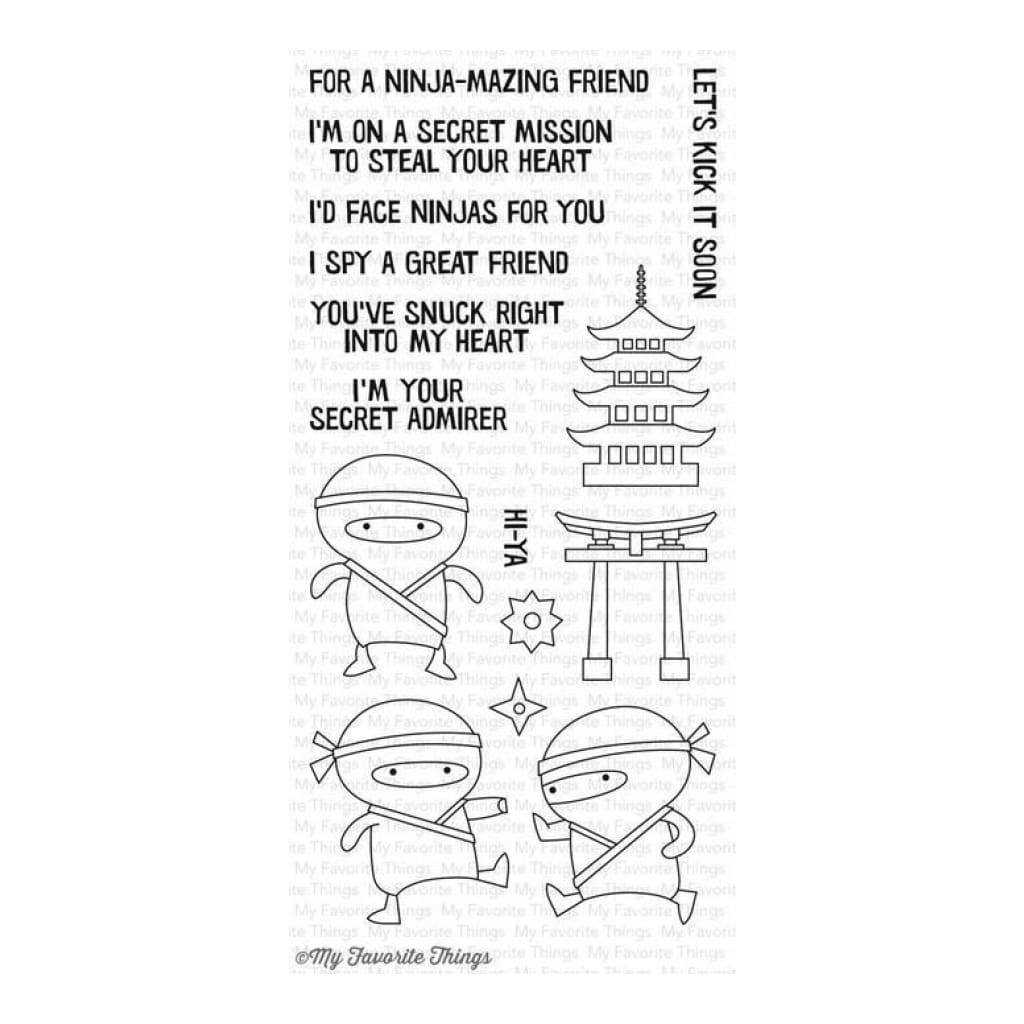 My Favorite Things Clear Stamp Set - Ninja-Mazing