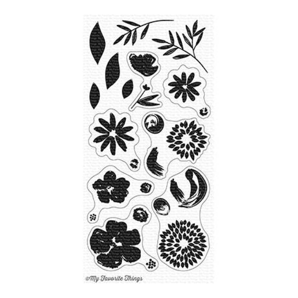 My Favourite Things - Brushstroke Blooms stamp set