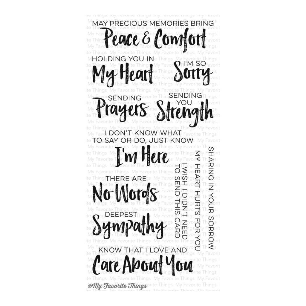 My Favourite Things - Deepest Sympathy - stamp set