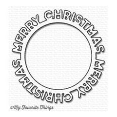 My Favourite Things - Die-namics Merry Christmas Circle Frame