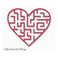 My Favourite Things - Heart Maze Shapes - Wild Cherry