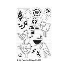 My Favourite Things - Mod Birds Clear Stamp set
