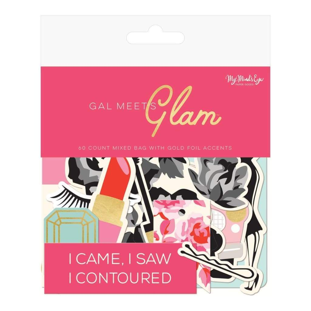 My Minds Eye - Gal Meets Glam Mixed Bag Cardstock Die-Cuts 60 pack