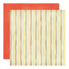 My Mind's Eye - On The Sunny Side - Simple Stripe 12X12 Double-Sided Paper