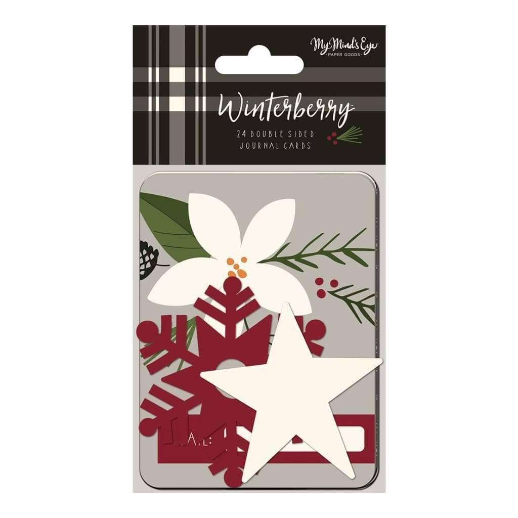 My Minds Eye - Winterberry Double-Sided Journal Cards 24 pack 3 inch X4 inch