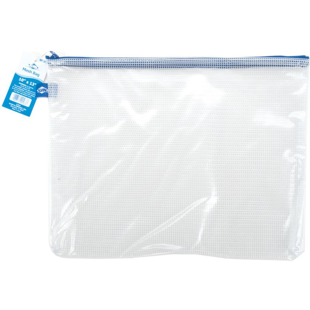 Blue Hills Studio Mesh Bag with Zipper 10 inch X13 inch Clear