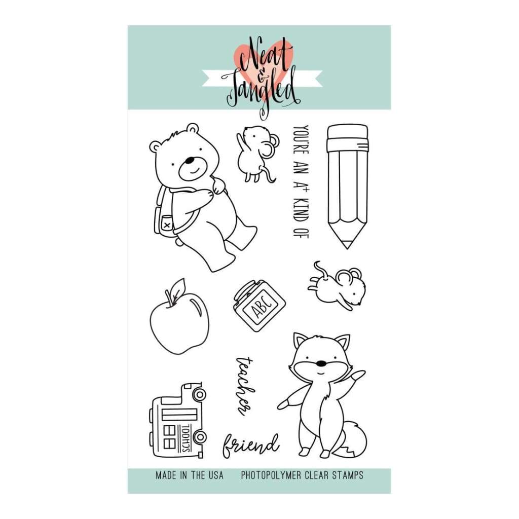 Neat & Tangled Clear Stamps 4 inch X6 inch Schoolhouse