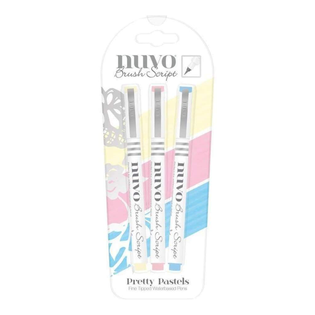 Nuvo Brush Script Pens - Pretty Pastels (3 Pk)
