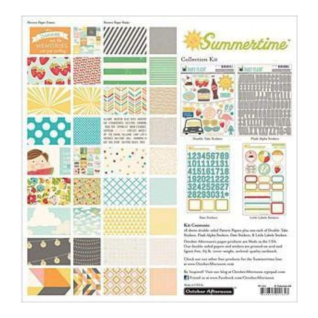 October Afternoon Collection Kit 12Inch X12inch  Summertime
