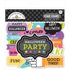 Doodlebug - Odds & Ends Chit Chat Die-Cuts - Candy Carnival, 90 pack